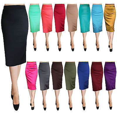 Sexy Bodycon Elegant Business Casual Solid Straight Pencil Skirt - USA