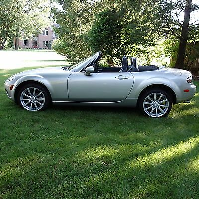 2007 mazda mx 5 miata sunlight silver metallic leather 6 speed fun used mazda mx 5 miata for. Black Bedroom Furniture Sets. Home Design Ideas