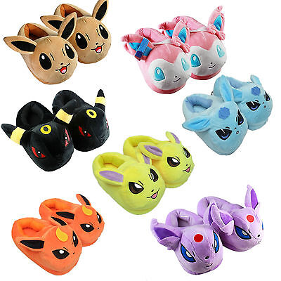 Anime Pokemon Sylveon Family Plush Slippers Adult Shoes Costume Cosplay Toy New - Pokemon Family Costumes
