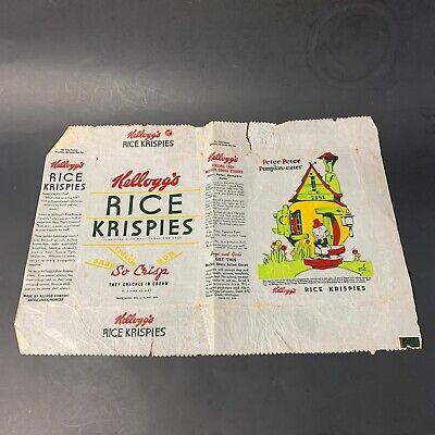 1930s Handbags and Purses Fashion Rare Original 1930's Rice Krispies Wax Cereal Bag Peter-peter Pumpkin-eater $12.00 AT vintagedancer.com