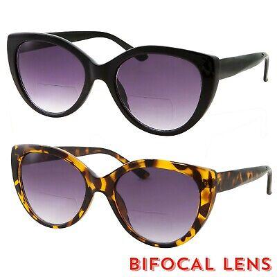Bifocal Women Big Cat Eye Reader Glasses Vintage Reading Sunglasses Cute (Reader Sunglasses For Women)