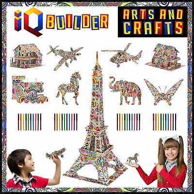 Fun Creative DIY Arts & Crafts KIT Best Toy Gift For Girls Boys Age 8 9 10 11