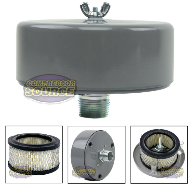"""1"""" MNPT Complete Intake Filter Housing w/ Element For Air Compressor USA Made"""