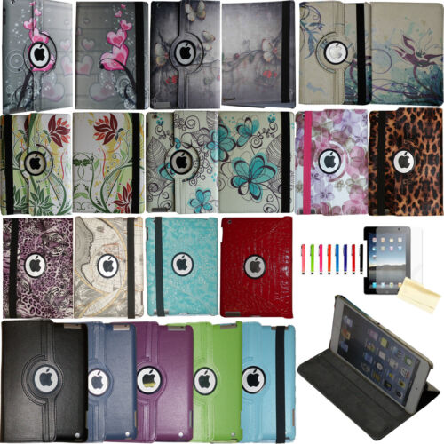 360 Rotating Magnetic Leather Case Smart Cover Stand For iPa