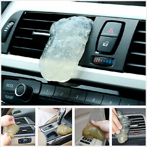 car suv universal interior dashboard air outlet dust dirt cleaning gel soft glue. Black Bedroom Furniture Sets. Home Design Ideas