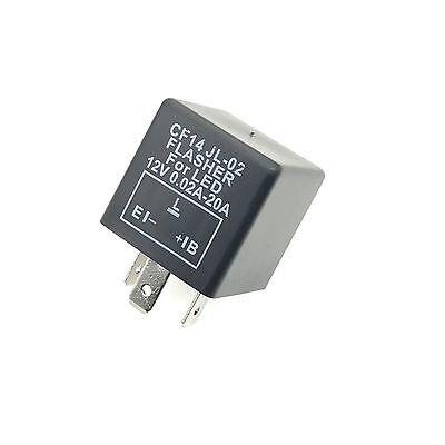 LED Blinker-Relais Lastunabhängig 12V 0,02-20A 3-Polig CF14 Flasher Blinkrelais - Relais 3 Polig