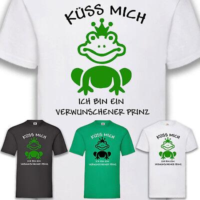 Kostüm Karneval Fasching Verwunschener Prinz Frosch Man T-Shirt Funshirt S-5XL
