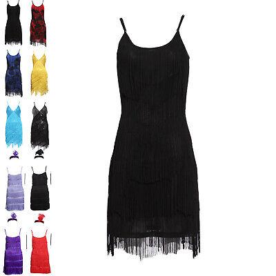 Mädchen 20er Jahre Charleston Kleid Pailletten Flapper Fransen - Flapper 20er Kleider