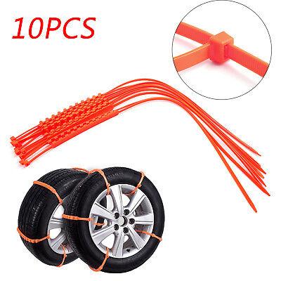 10PCS Snow Tire Chain Anti-Skid Belt Car Truck SUV Emergency Winter Driving U9