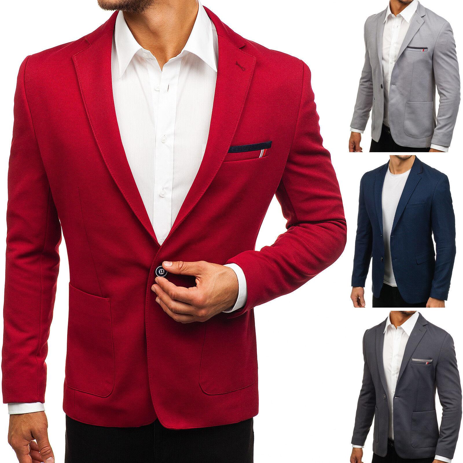 Herren Sakko Anzug Jacke Sweatjacke Blazer Classic Slim Fit Mix BOLF 4D4 Casual