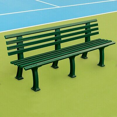 Plastic Tennis Court Benches [Green/White] | All Surfaces (Indoors & - Tennis Benches