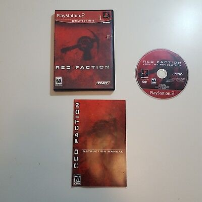 Used, Red Faction Greatest Hits (Sony PlayStation 2, 2002) Shooter Video Game Mature for sale  Shipping to Nigeria
