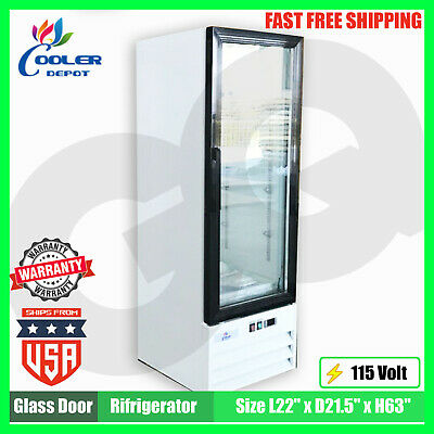 Refrigerator 1 Glass Door Cooler Merchandiser Nsf Etl Commercial Reach-in New
