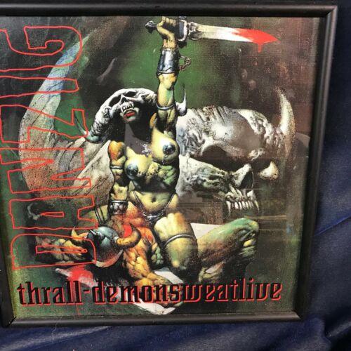 Danzig Thrall Demonsweatlive 12x12 Promo Poster Flat Misfits Samhain FRAMED