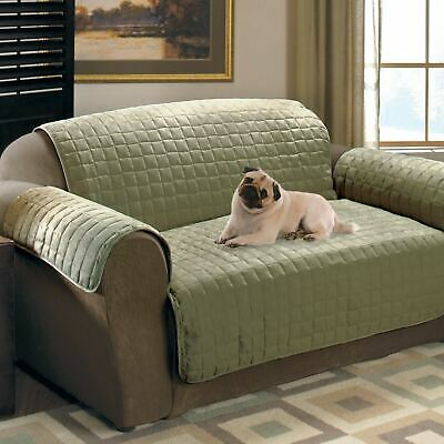 One Piece Green Soft Micro Suede Love Seat Pet Furniture Protector Slip Covers Furniture Covers Soft Suede