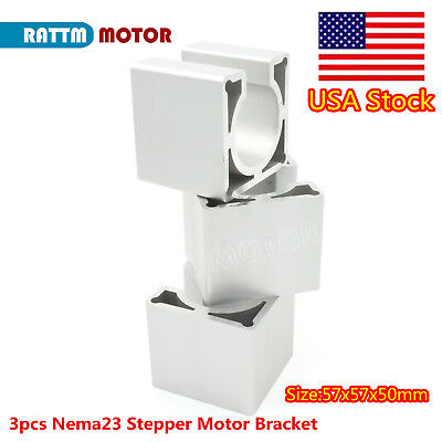 Us3pcs 57mm Nema23 Stepper Motor Mount Aluminum Bracket Support For Cnc Router