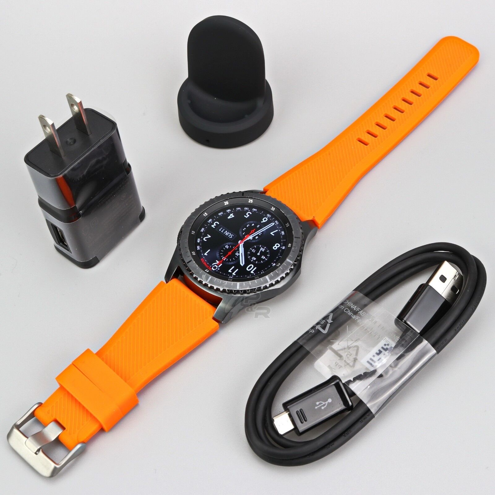 Samsung Gear S3 Frontier SM-R760 Wi-fi Smart Watch w/ Generic Large Size Band