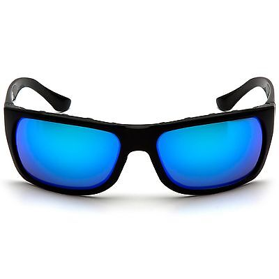 Venture Gear Vallejo Safety Glasses with Blue Mirror Anti-Fog Lens, Black (Glasses With Mirror)