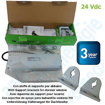 SMART 24V GREY + SUPPORT BRACKETS FOR DORMER WINDOW GREY Skylights Motor