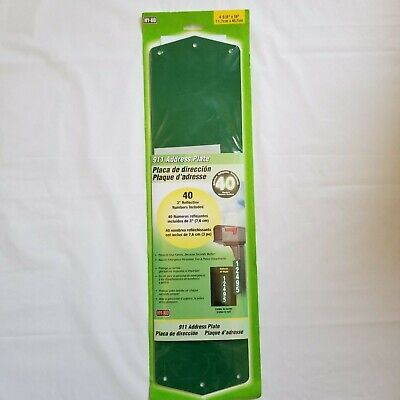 Reflective Green Address Sign Kit Plaque House Number Set 911 Safety Hi Viz HYKO ()