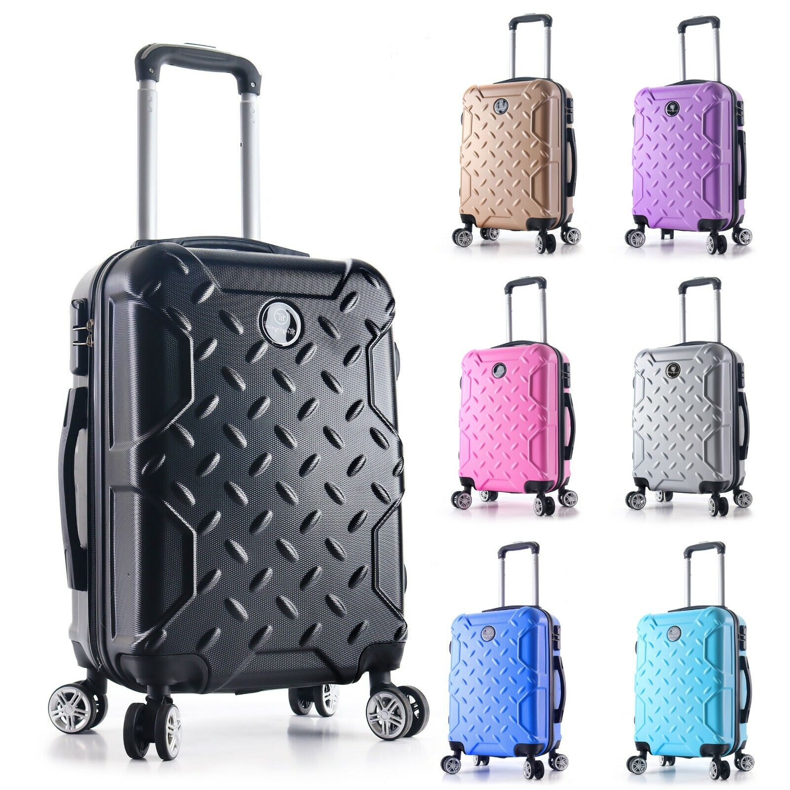 "22"" Carry on Travel Luggage Lightweight Rolling Spinner Hard"
