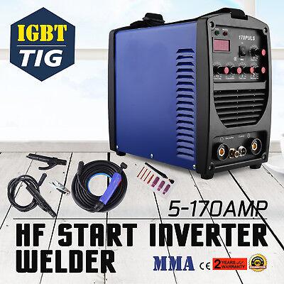 ALU WIG SCHWEIßGERÄT 170 A - TIG MMA HF INVERTER DC PULS 170A 230V 4M Kabel