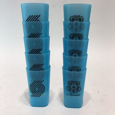 SET OF 10 - Azunia Tequila /Portland Blazers Plastic SHOT GLASS Glow In The Dark](Glow In The Dark Shots)