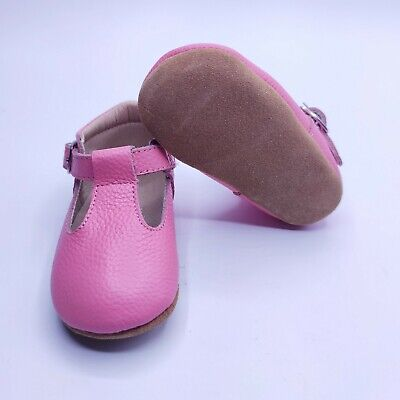 Toddler Shoes Leather Bow Lace Baby Girls Dress Shoes 6-12 Moths Pink Flat ⭐⭐⭐⭐⭐