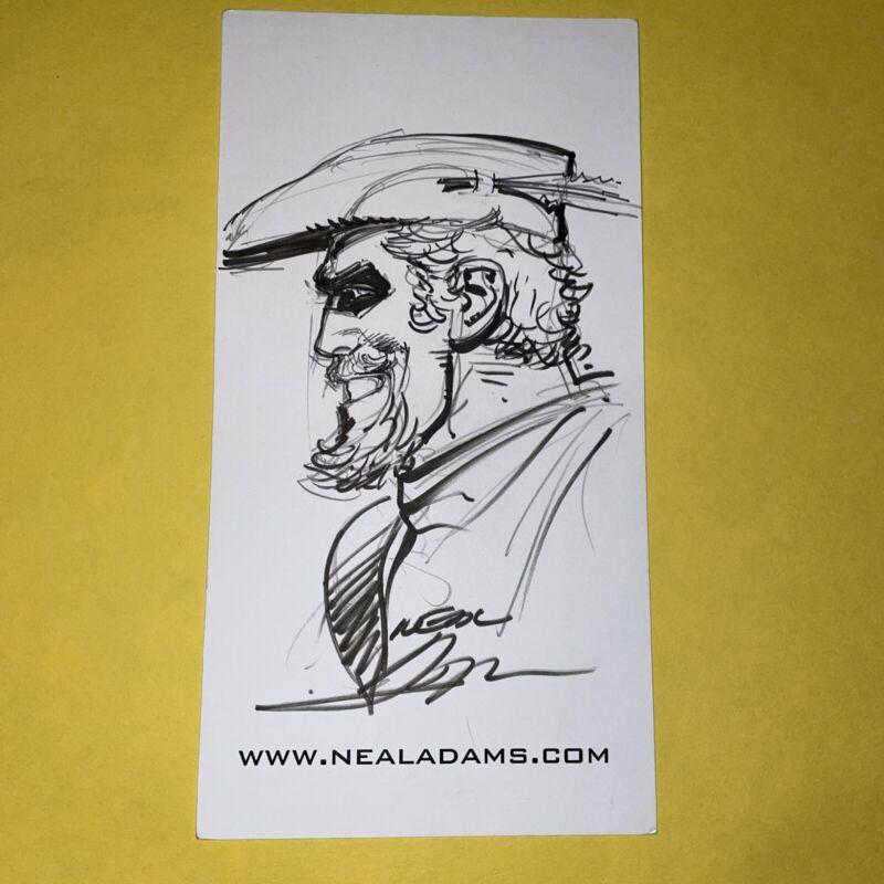 Original Neal Adams Comic Book Drawing Art Sketch Green Arrow 8.5 in. by 4.5 in.