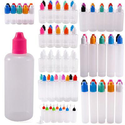 10-100ml Empty Squeeze Eye Dropper Juice Liquid Vape Bottle w/ Plastic Funnel