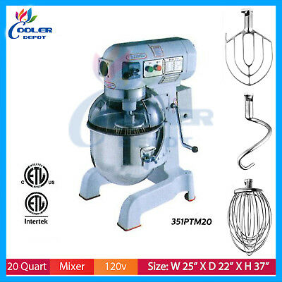 20 Quart Nsf Mixer Commercial Mixer Stand Bowl 3 Attachments Countertop Bakery