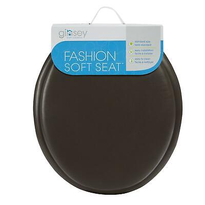 Ginsey Standard Soft Toilet Seat with Plastic HInges, Chocol