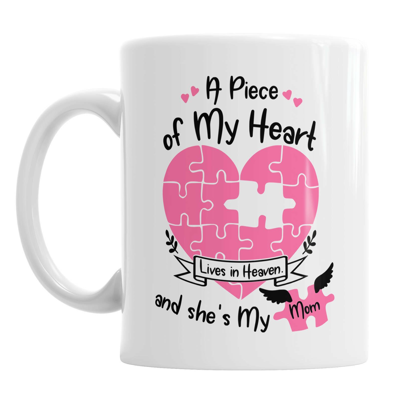 Mom Mug Mummy Mug Heaven Mug Mother s Day Mug Mug Gift Life Happens Mug Heart - $13.99