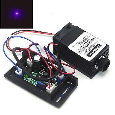 405nm 100mw Violetblue Focusable Dot Laser Diode Module 12v Driver Ttl Fan