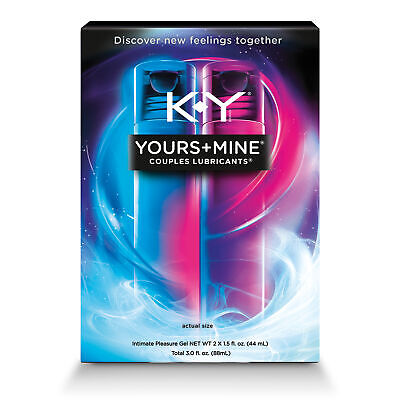 K-Y Yours+Mine Couples Lubricant Intimate Pleasure Gel 3oz exp 7/19 FREE
