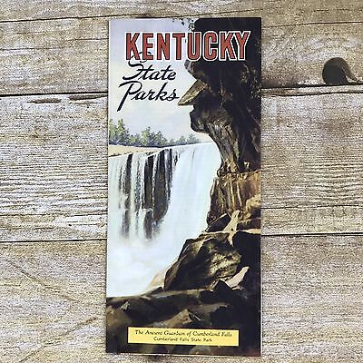 Vintage Kentucky Brochure Travel 1946 State Parks Hotel Rates Map Advertising