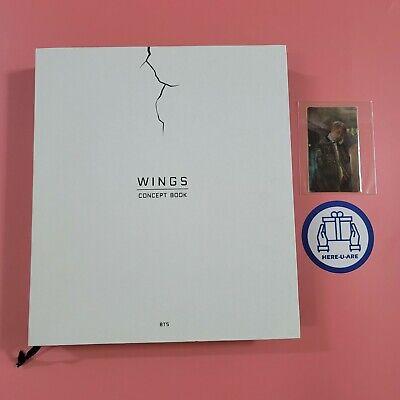 BTS Wings Concept Book JIN seokjin Lenticular Card 2 Photo Frame Paper OOP rare