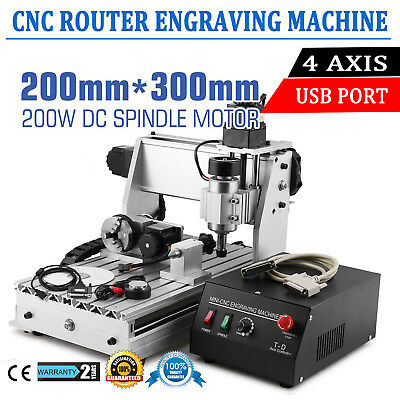 4 Axis 3020t Cnc Engraving Machine Usb Engraver Cutter Function Router Tools 110