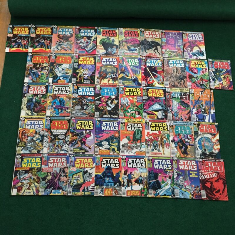 Vintage Lot Of 42 Star Wars Comic Books