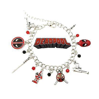 Deadpool Movie/Comic Theme Multi Charms Jewelry Bracelet