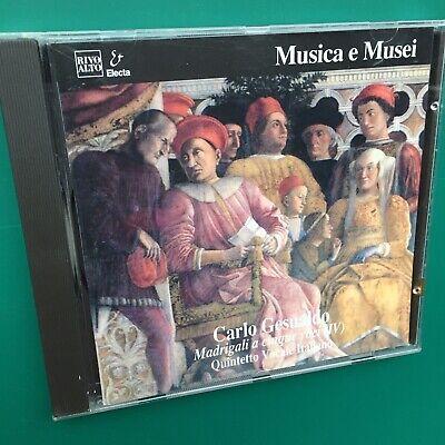 Rare Gesualdo MADRIGALI A CINQUE VOCI (IV) Renaissance Classical CD Musica Musei