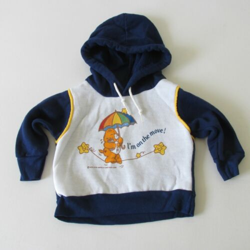 Vintage 80s Care Bears Infant 12 Months Fleece Hoodie American Greetings