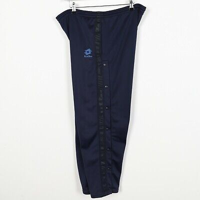 Vintage 90s LOTTO Poppers Tracksuit Bottoms Joggers Blue | Small S
