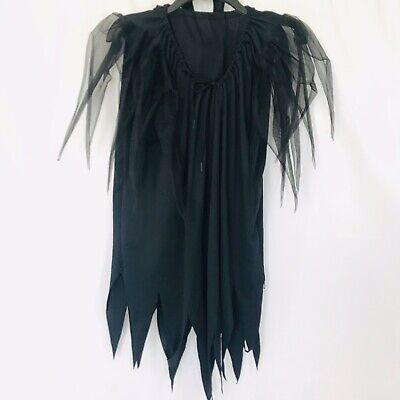 Tulle Witch Costume (Rubie's Witch Costume Tulle Sleeves Black Dress One Size Adult)