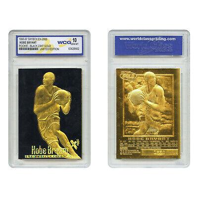 **RARE** Graded Gem-Mint 10 KOBE BRYANT 1996 Skybox 23K Black Gold ROOKIE Card -