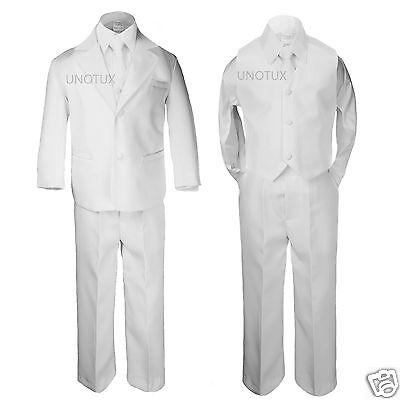 New Boy Formal 1st Communion Christening Wedding Tuxedo Suit White New Born - 20 - First Communion Suit Boy