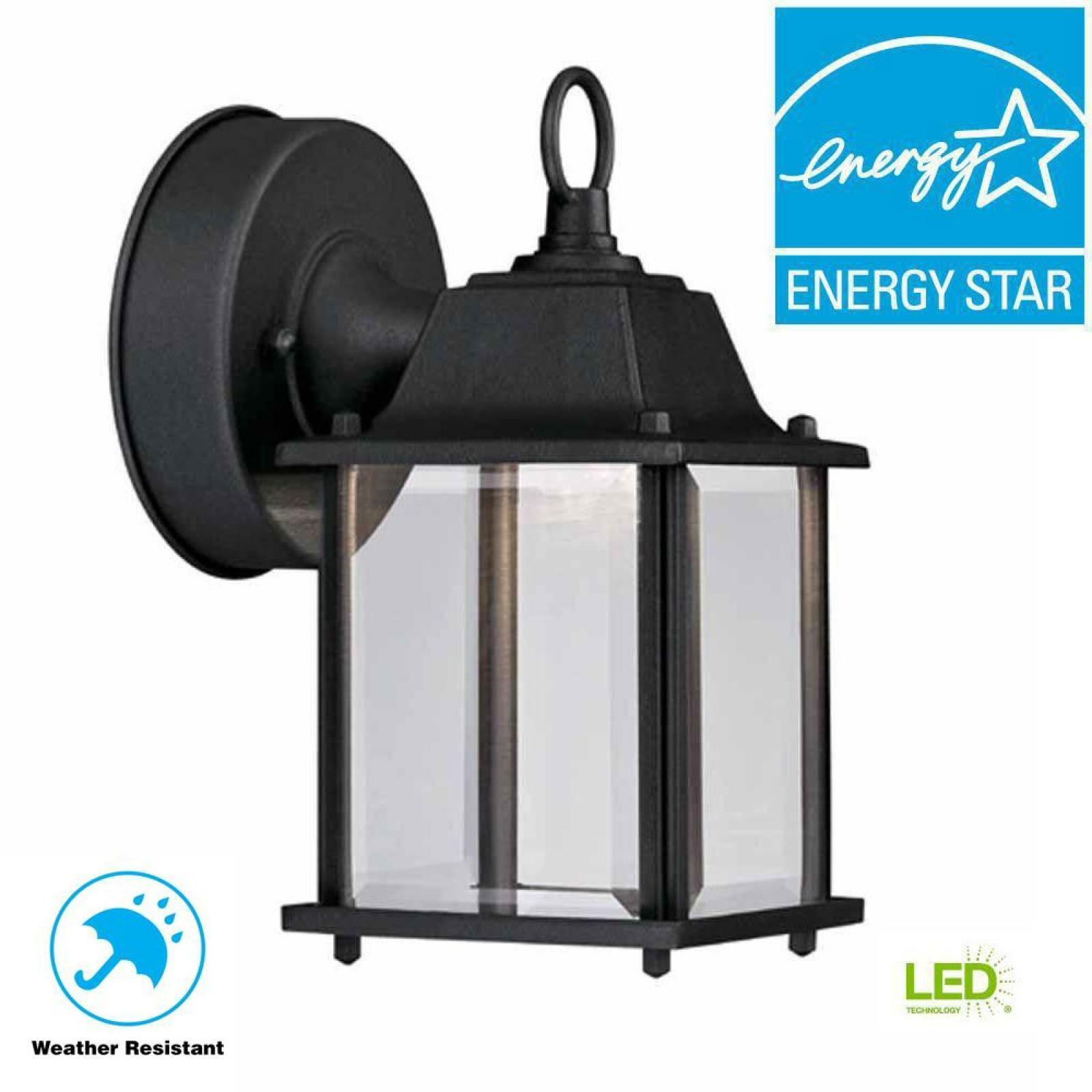 Oriental Black Outdoor Led Wall Lantern Front Entry Door Asian Porch Light Lamp Ebay