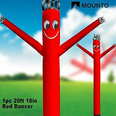 Mounto 20ft Red Air Inflatable Dancing Puppet Dancer Wind Flying Dancer Noblower