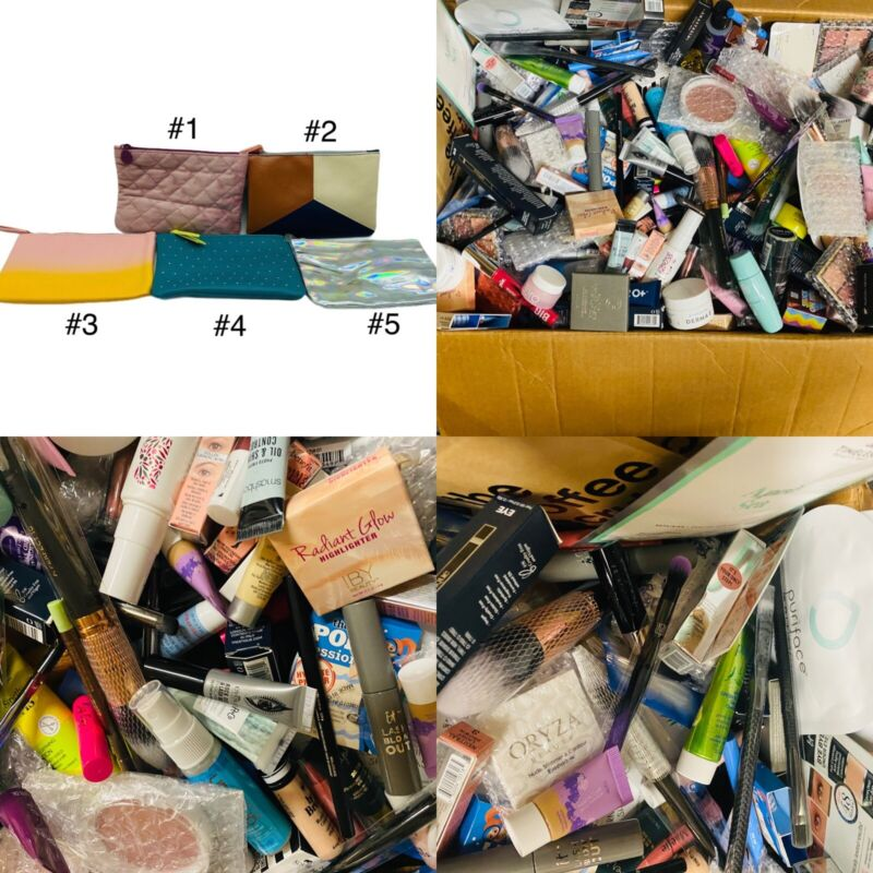IPSY Cosmetic Make-Up Travel Lot of 5 Bags Mixed 25 Total Pieces