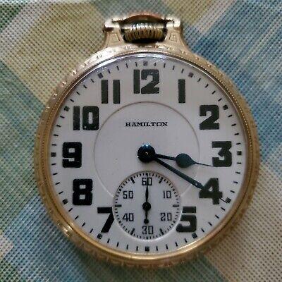 Hamilton 10k gold filled Railroad Watch 21 Jewels Working